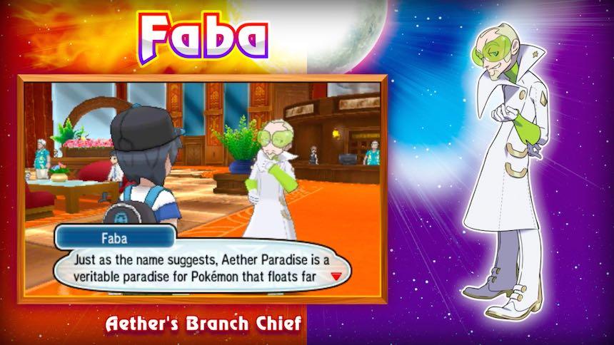 Faba Aether Foundation Pokémon Sun/Moon