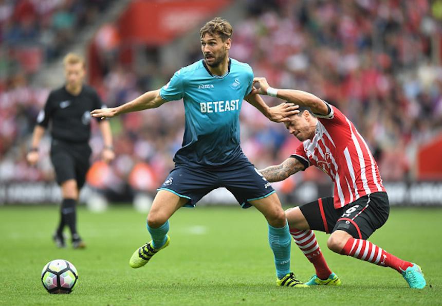 Fernando Llorente con el Swansea