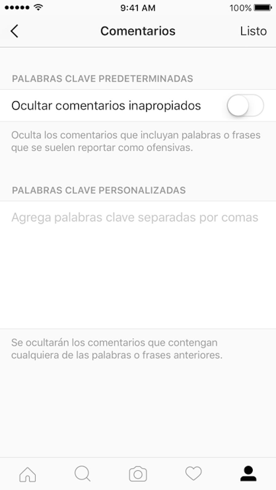 Instagram - Filtro personalizado