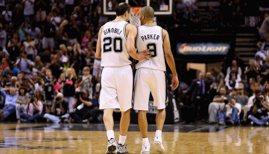 ginobili y parker llevan mucho tiempo con los Spurs