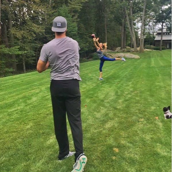 Gisele Bundchen subió una foto a su cuenta de Instagram practicando con Brady