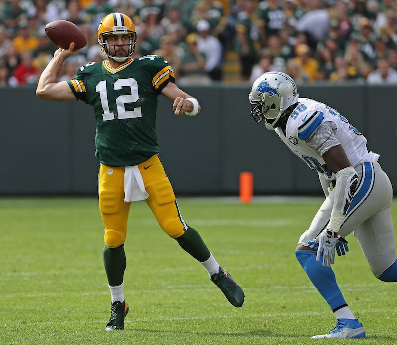 Detroit Lions versus Green Bay Packers