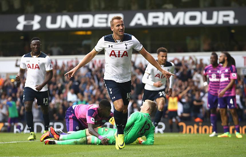Harry Kane celebrando su gol
