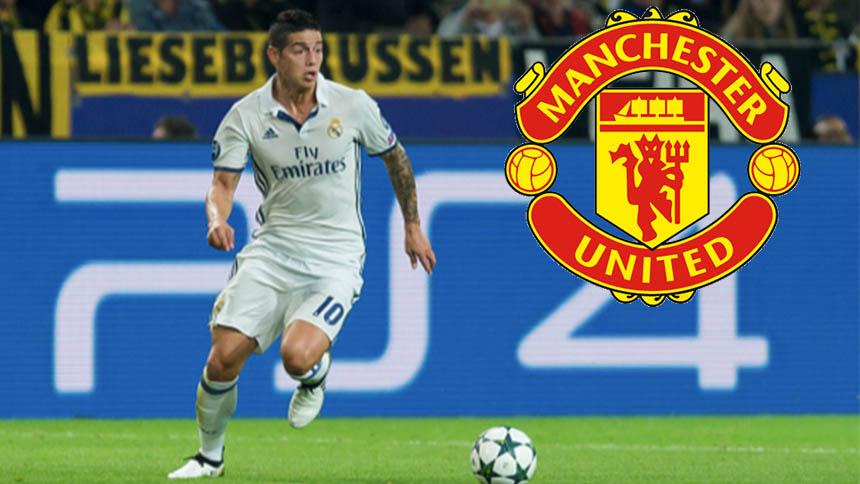 Reportes indican que James Rodríguez se quiere ir al Manchester United