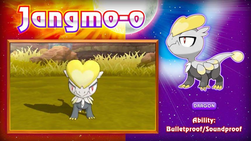 Jangmo-o Pokémon Sun/Moon