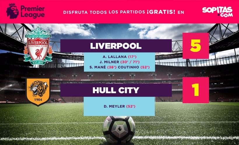 Liverpool ha marcado 9 goles en sus últimos dos juegos en la premier