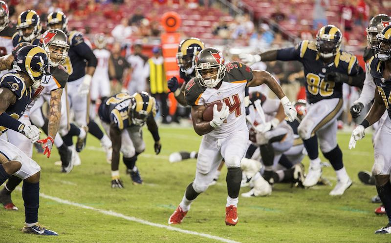 Tampa Bay Buccaneers versus Los Angeles Rams