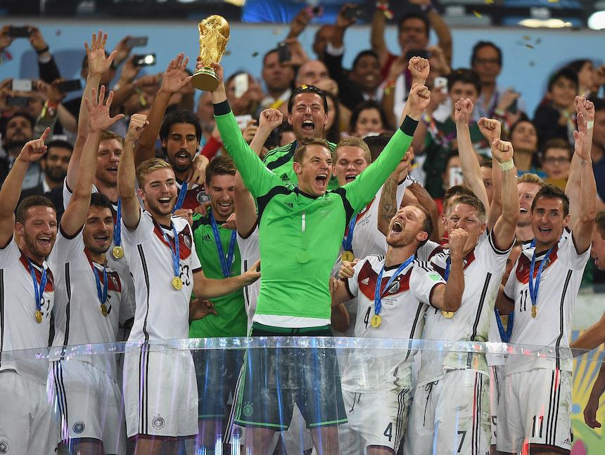 La Selecció Alemana campeona del Mundial Brasil 2014