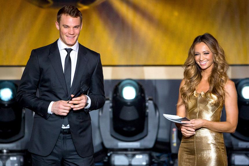 Manuel Neuer en la investidura de gala de la FIFA