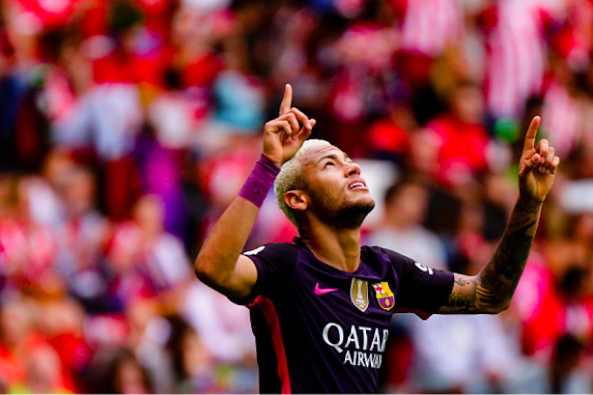 El detallazo de Neymar con un aficionado del Sporting de Gijón