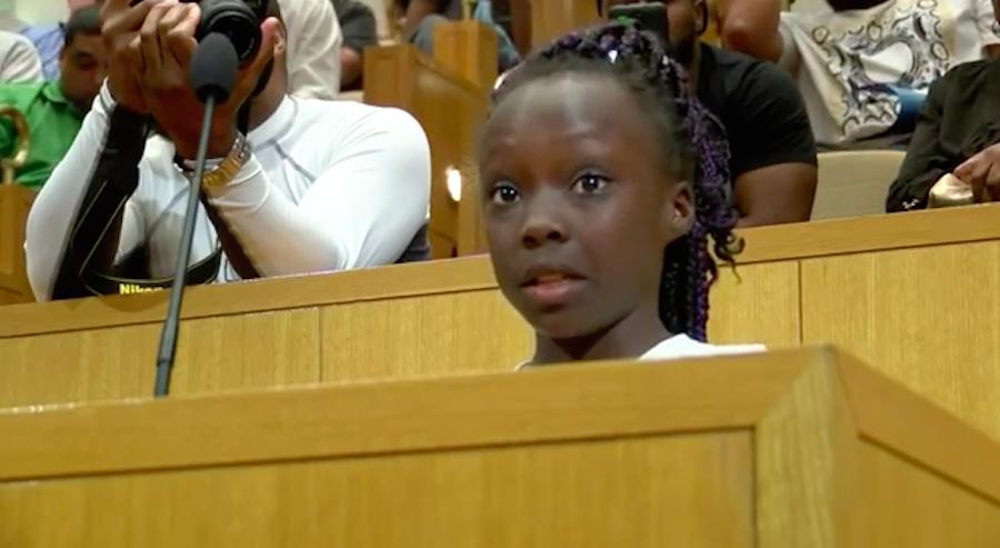 El emotivo discurso de una niña contra el racismo en Estados Unidos