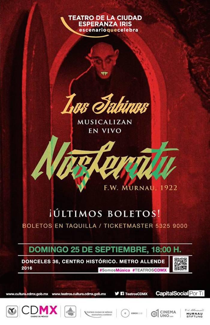 Nosferatu musicalizado por los Sabinos en el Teatro de la CDMX