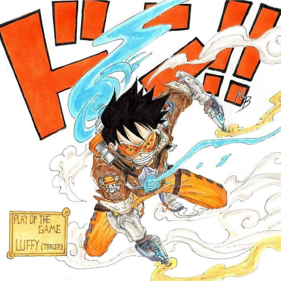 Luffy como Tracer