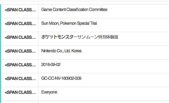 Pokémon Sun/Moon demo