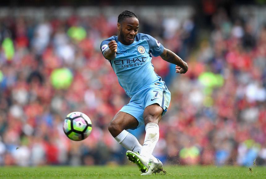 Raheem Sterling marcó el tercer gol del juego