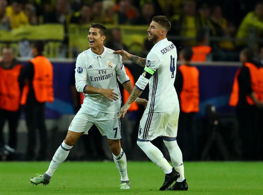 Real Madrid marcó el primero en su juego contra el Borussia Dortmund