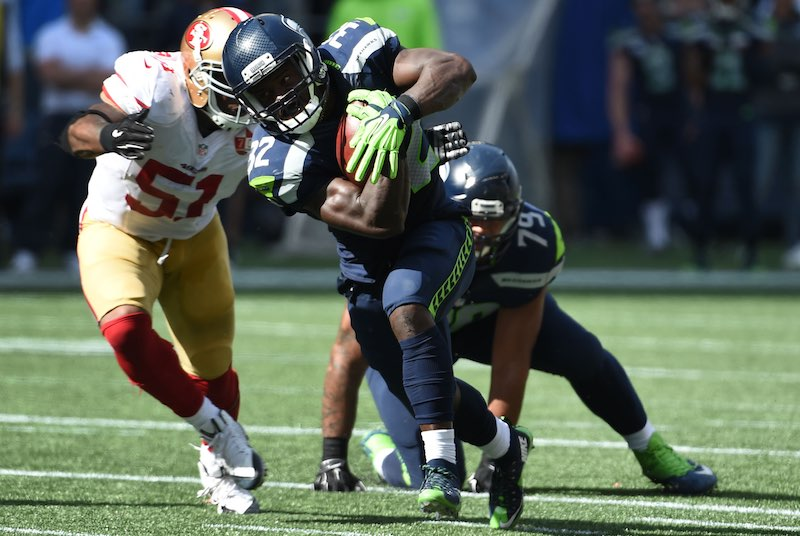 San Francisco 49ers versus Seattle Seahawks