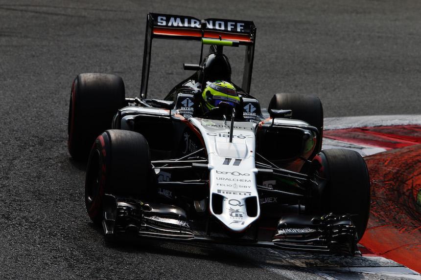 Sergio Perez finalizó en el octavo puesto en Italia