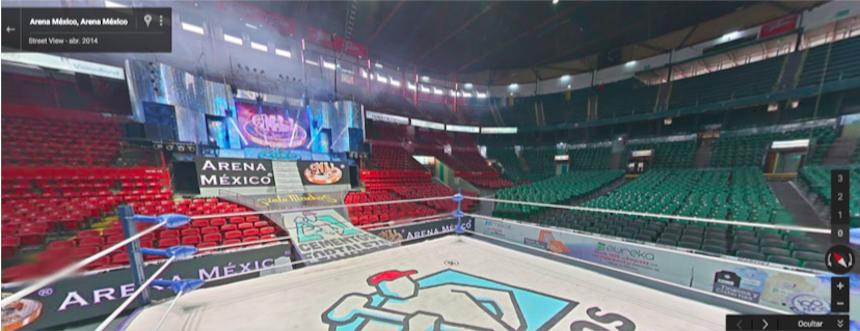 Arena México vista desde Street View