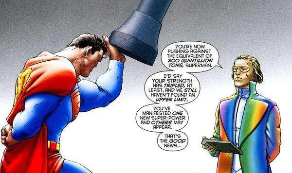 Superman levanta 200 quintillones de toneladas