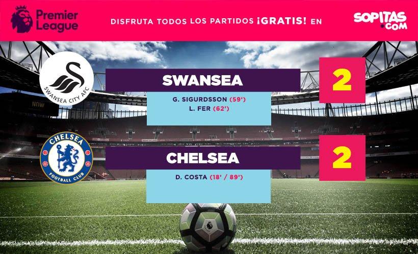 Swansea y Chelsea nos dieron un gran partido que terminó 2-2