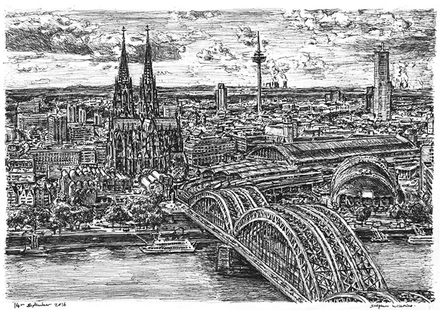 Dibujo de Alemania por Stephen Wiltshire