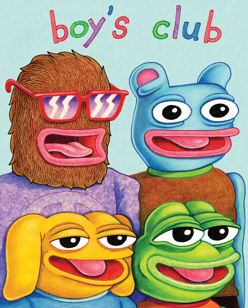 Portada del comic Boys Club
