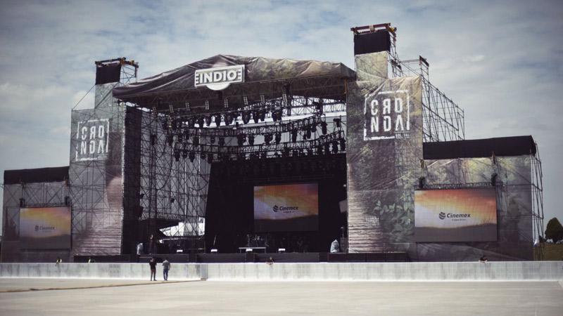 Escenario del Festival Coordenada Guadalajara 2016