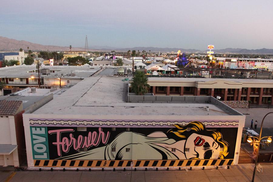 La obra de D*Face también se puede apreciar en las calles del centro de Las Vegas