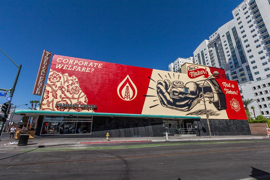 Be a Maker: El mural creado por Shepard Fairey en el centro de Las Vegas