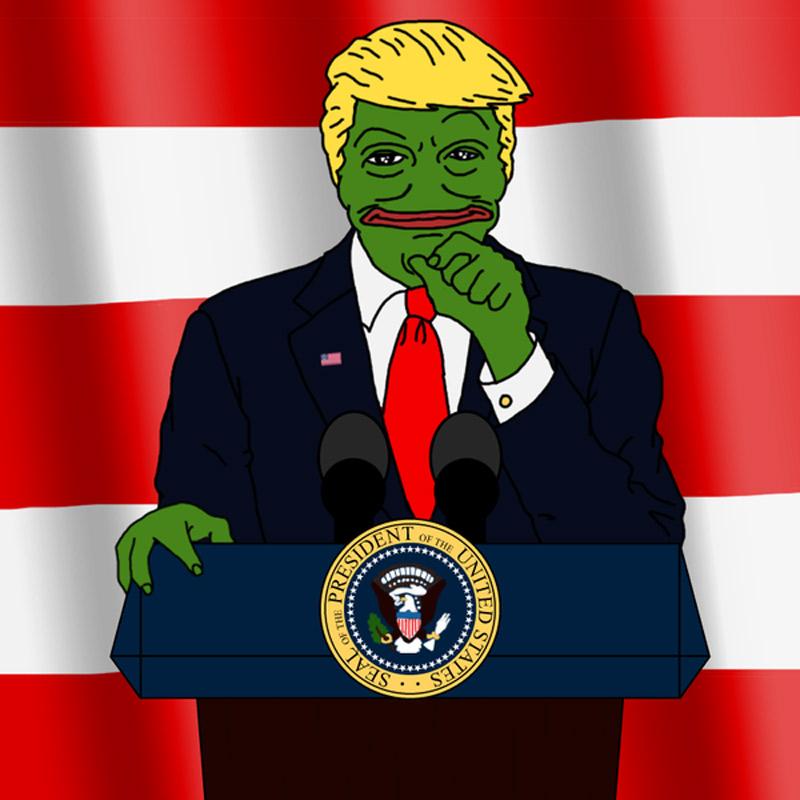 La polémica simulación de la Rana Pepe como Donald Trump