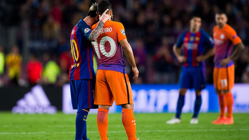 Sergio Agüero platicó con Messi al terminar el juego