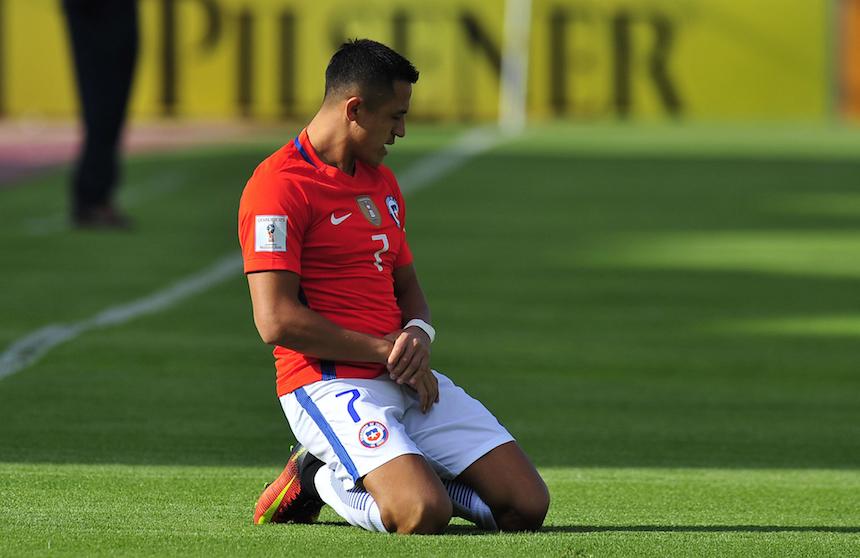 Alexis Sánchez con la selección de Chile