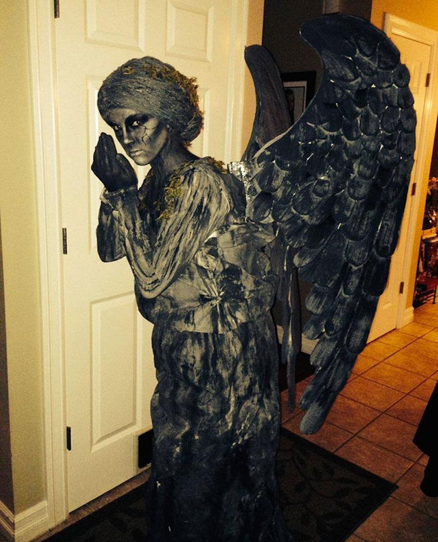 Disfraz de ángel negro