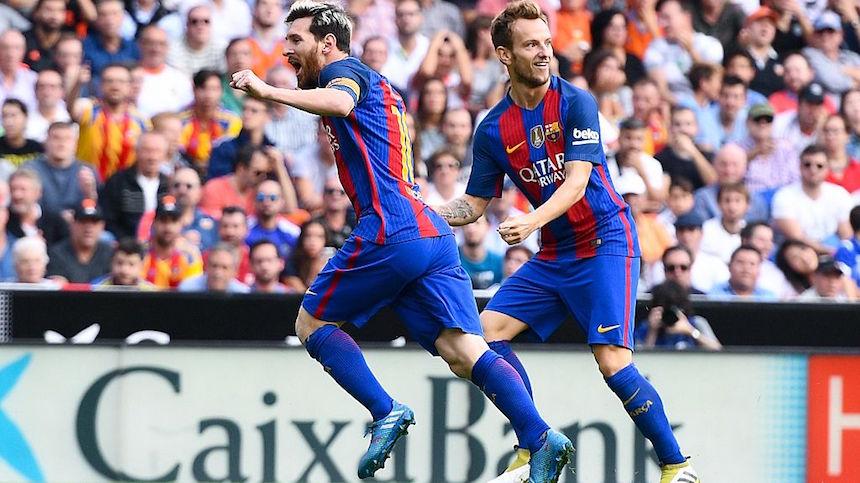 El Barcelona tomó la ventaja con gol de Messi