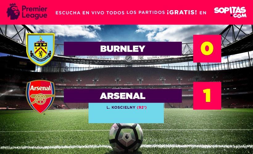 El Burnley perdió contra el Arsenal de forma dramática