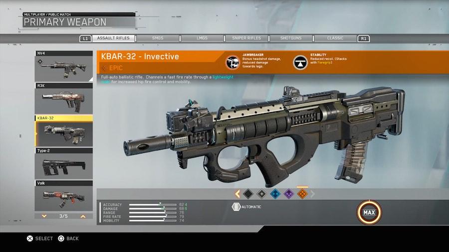 Call of Duty: Infinite Warfare Armas 2