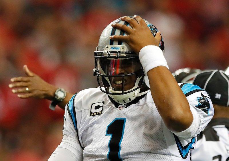 Cam Newton dolor cabeza