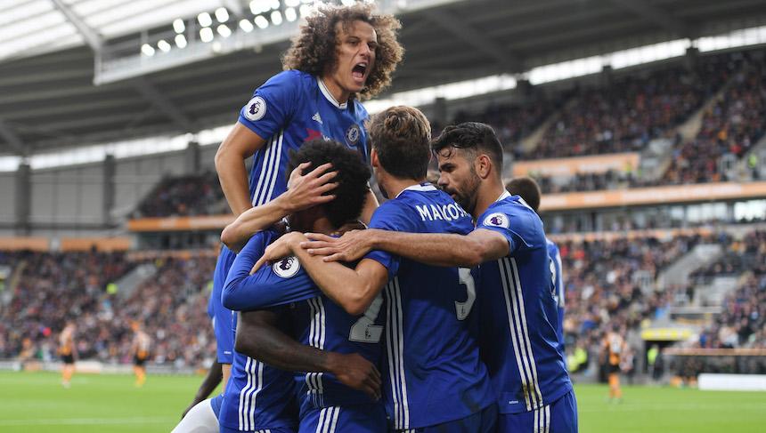 El Chelsea regresa al camino de la victoria frente a un débil Hull City