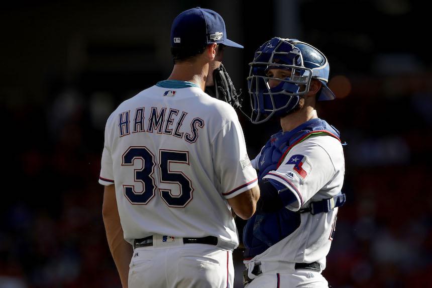 Cole Hamels, pitcher de los Rangers