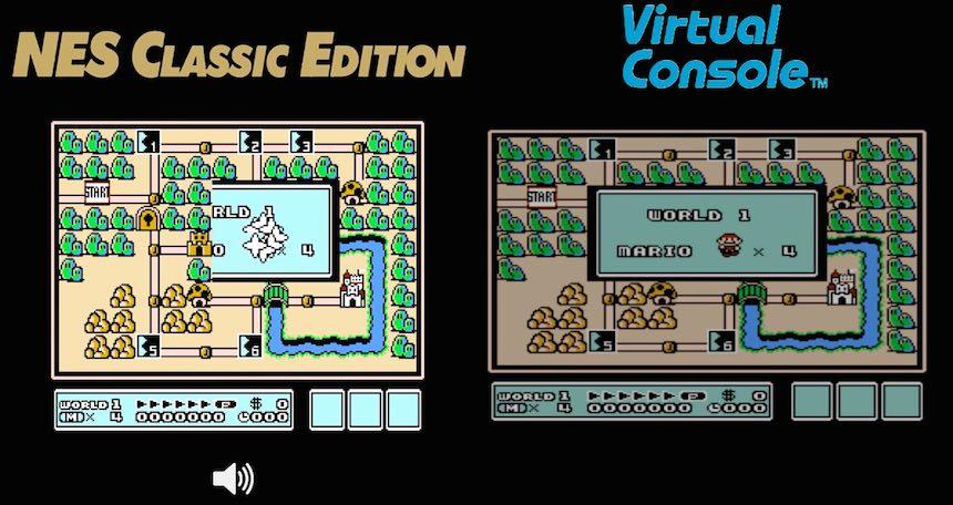 Comparación Mini Nes/Wii U