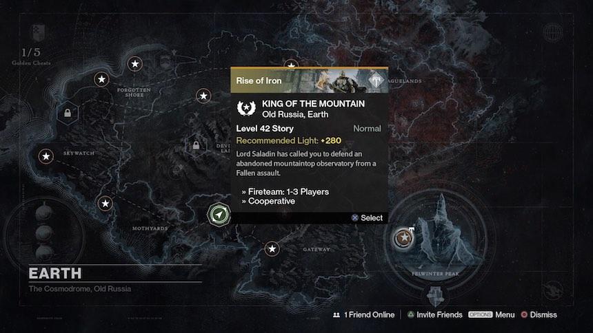 Destiny Rise of Iron Mapa