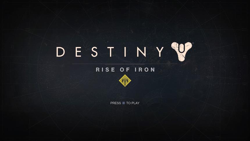 Destiny Rise of Iron Inicio