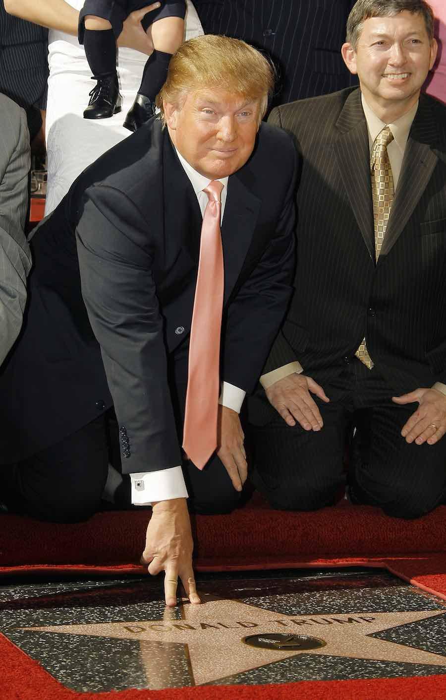 La estrella de Donald Trump en el Paseo de la Fama