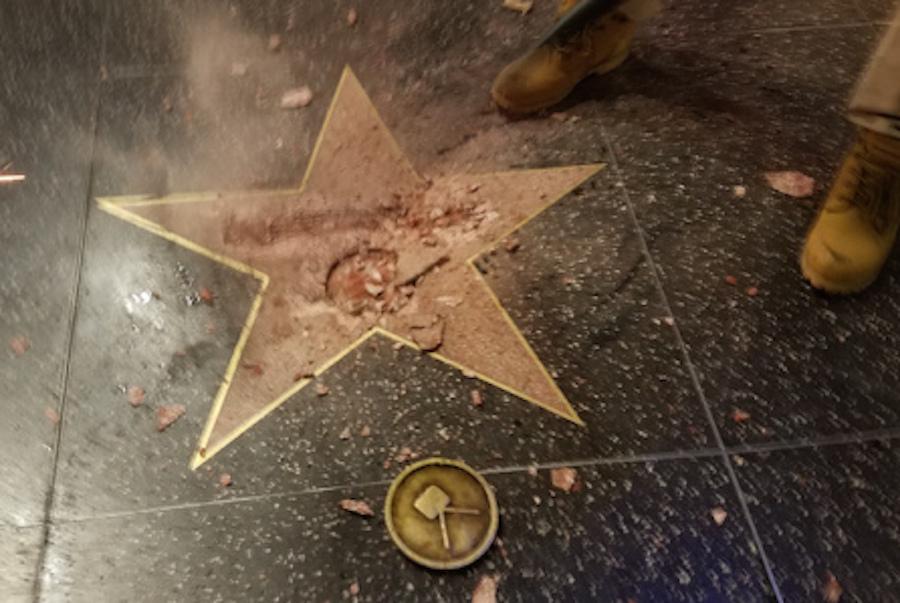 La estrella rota de Trump