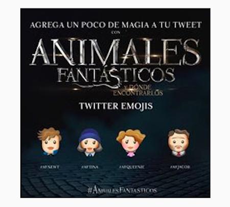 Emojis con los personajes de Fantasic Beast