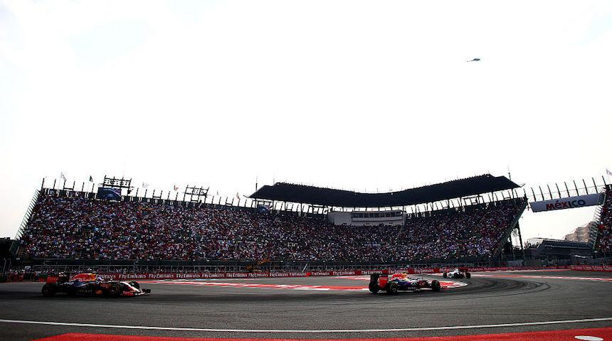 El Foro Sol durante el Gran Premio de México