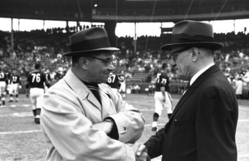 George Halas y Vince Lombardi