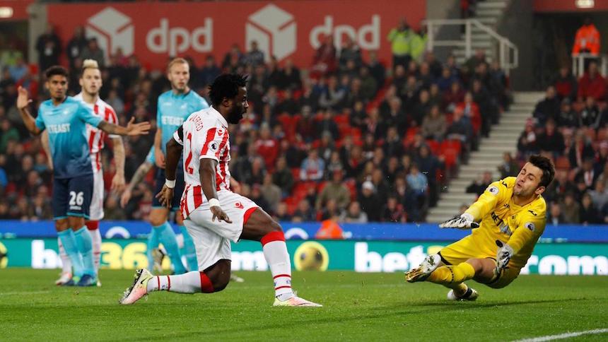 El Stoke City abrió el marcador contra el Swansea