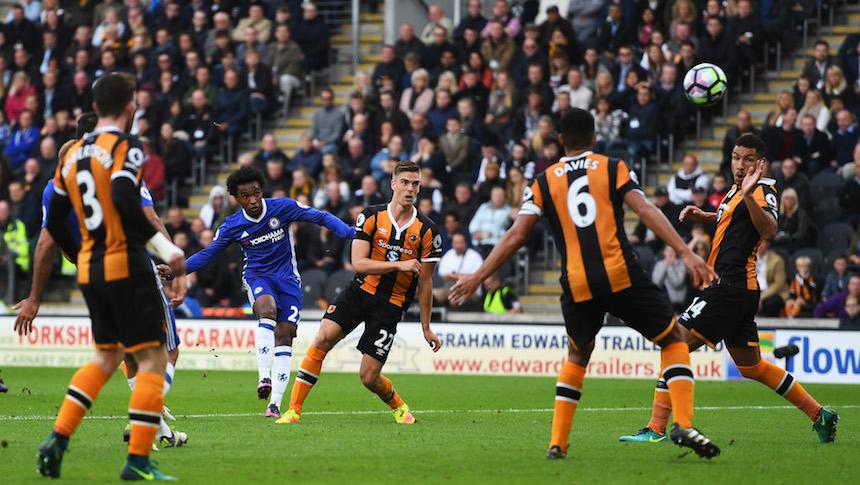 El golazo de Willian abrió el camino para que ganara el Chelsea